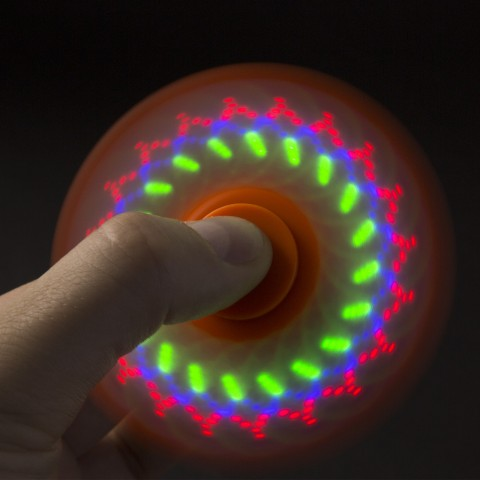 Fidget Spinner cu LED model MANDALA