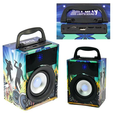 boxa portabila 10W bluetooth MP3player radio FM Party Disco1