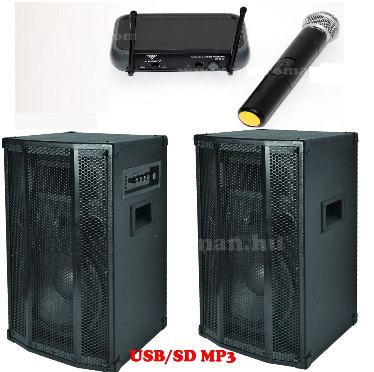BOXE ACTIVE PAX25ACTIVE 2x100W MP3player+mic wireless