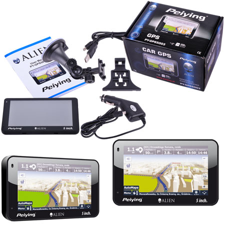 GPS navigator, mp3player, foto, e-book GPS5003 fara harti