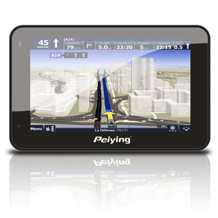 GPS navigator, mp3player, modulator FM, foto, GPS5005