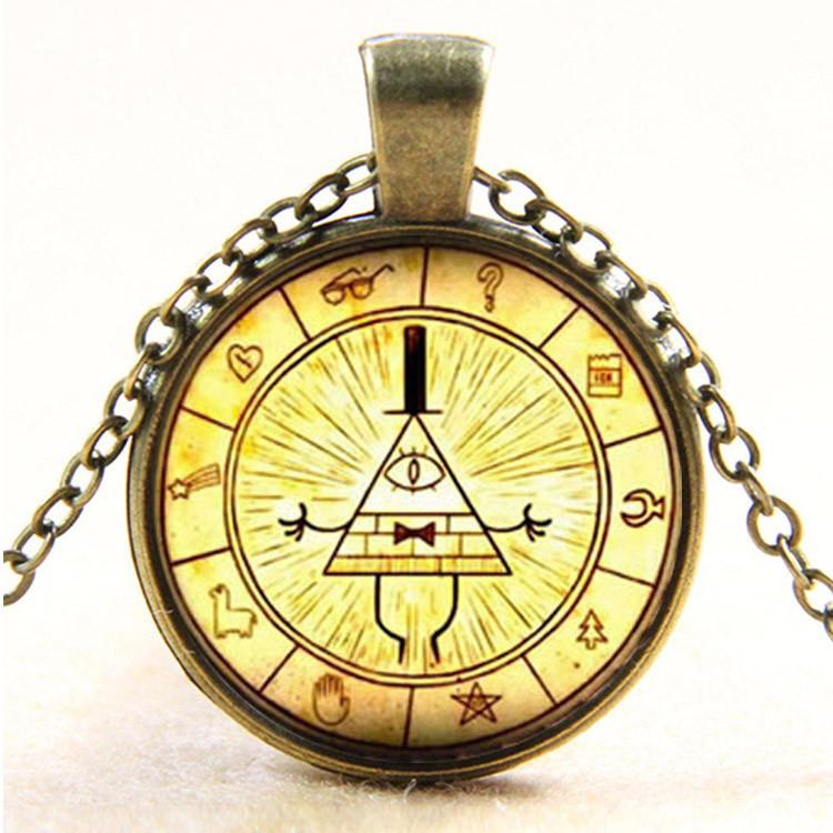 colier cu medalion Dr Who - roata Bill Cipher