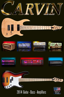 catalog Carvin guitars and basses 2014-2015