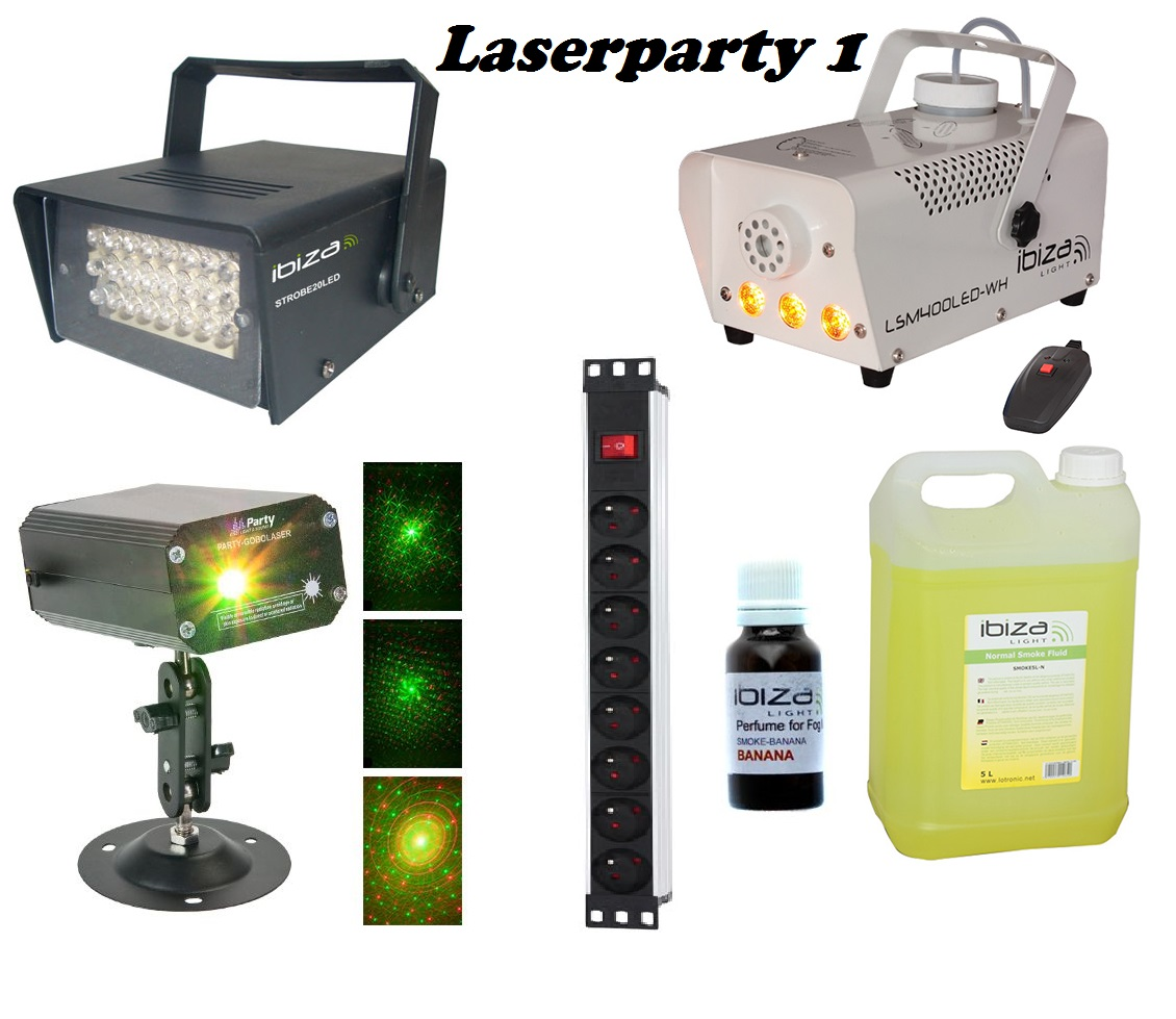 set LASERPARTY 1