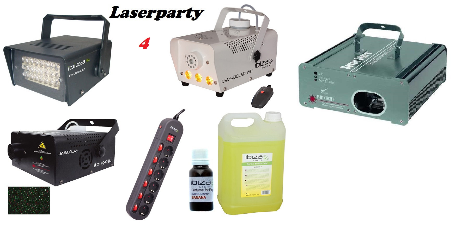 set LASERPARTY 4 PLUS