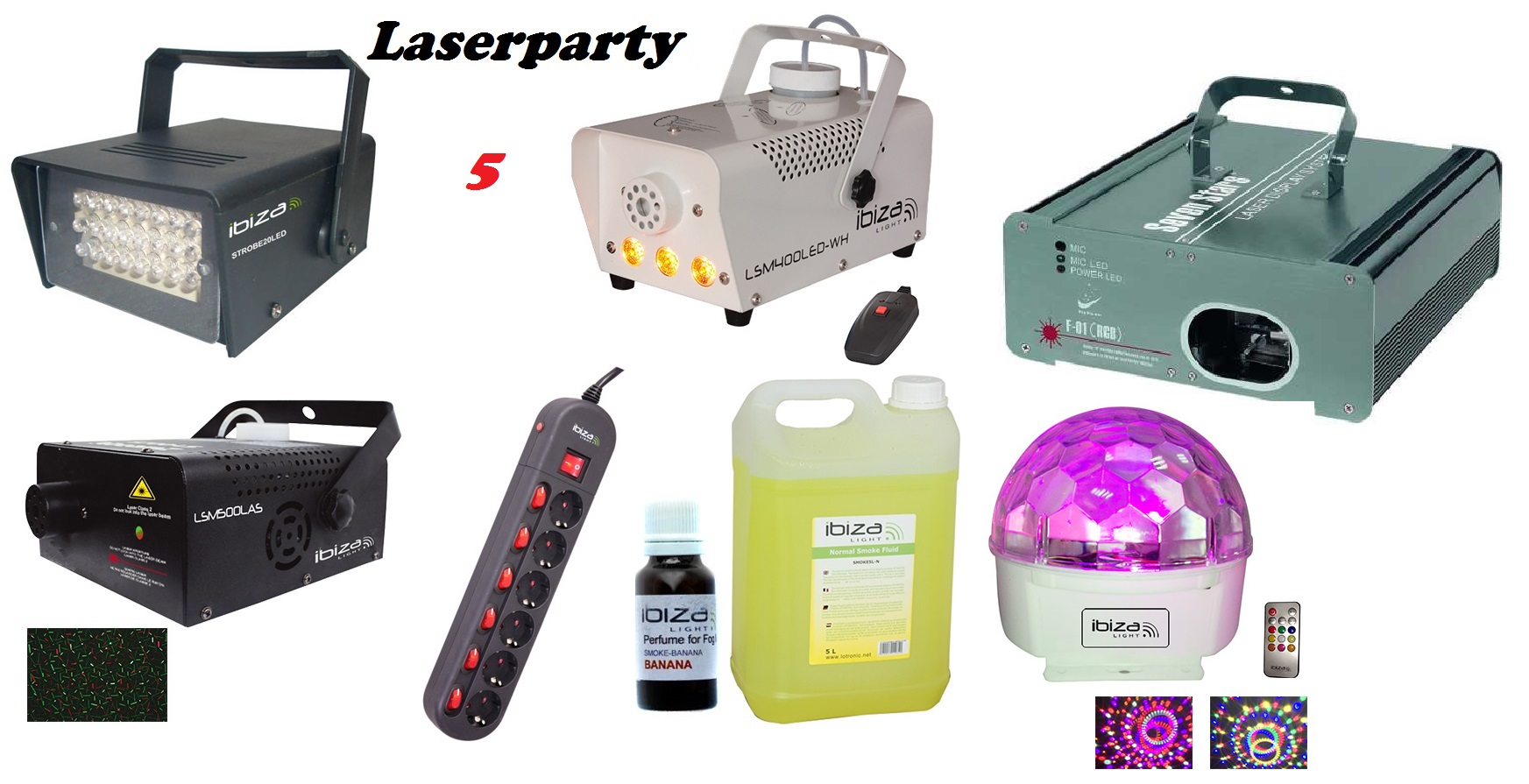 set LASERPARTY 5 PLUS