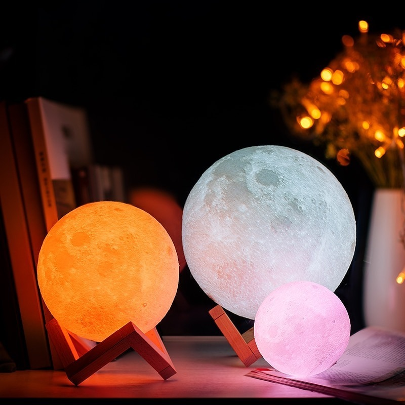Lampa LED MOON 3D Unicun 20cm