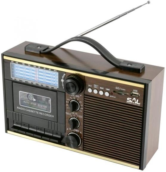 radio-casetofon AM, FM, SW, MP3-player, recorder  SAL