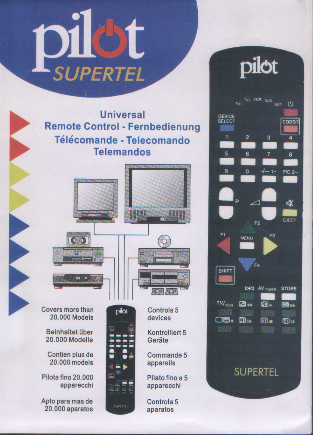 brand 3 remote supertel e pilot pilot detailed 1402 details