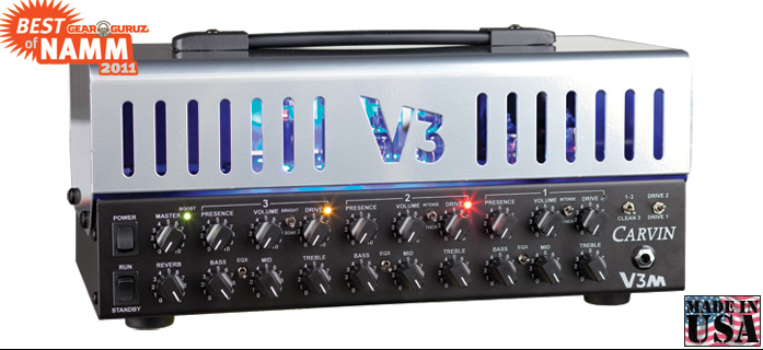 amplificator V3MC 3 Canale integral cu tuburi MICRO HEAD CARVIN